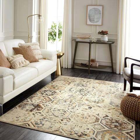 Furniture of America Thyr Contemporary Relic Beige Area Rug