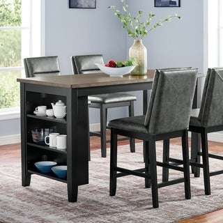Furniture of America Erme Transitional Black Counter Height Table