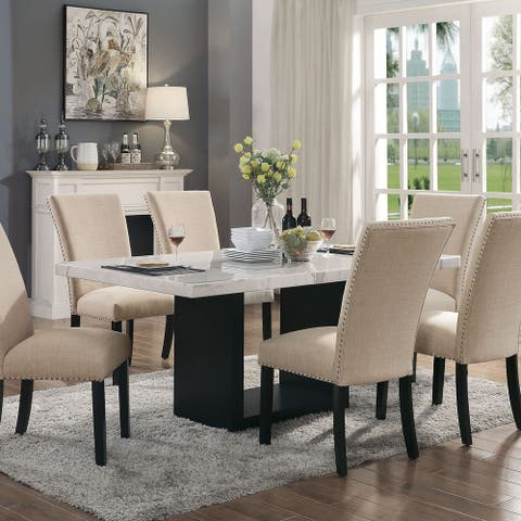 Furniture of America Cots Transitional White 70-inch Dining Table