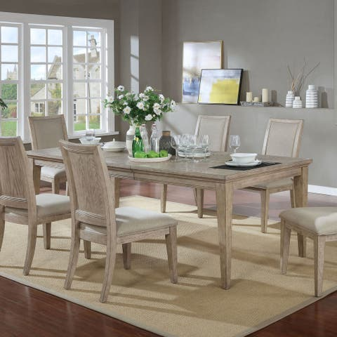Furniture of America Frez Transitional Natural Tone Dining Table