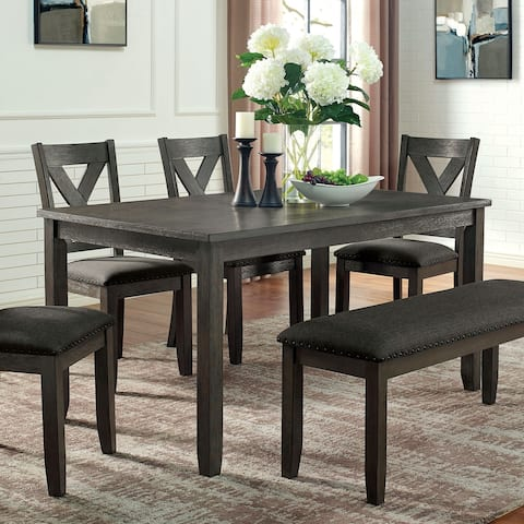 Furniture of America Blye Transitional Grey 60-inch Dining Table