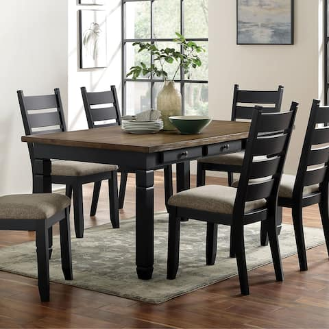 Furniture of America Falm Transitional Brown Solid Wood Dining Table
