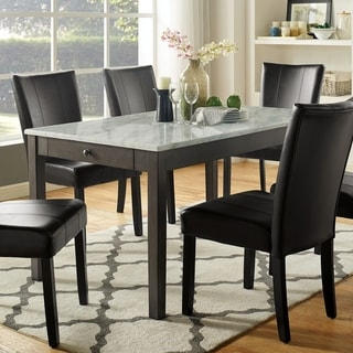 Link to Furniture of America Cloe Transitional White Solid Wood Dining Table Similar Items in Dining Room & Bar Furniture