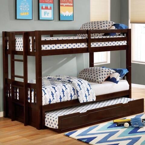 Furniture of America Phex Transitional Esspreso Twin/Twin Bunk Bed