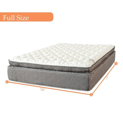 13-Inch Foam Encased Soft Pillow Top Hybrid Contouring Comfort Mattress and 8-Inch Wood Box Spring/Foundation Set,