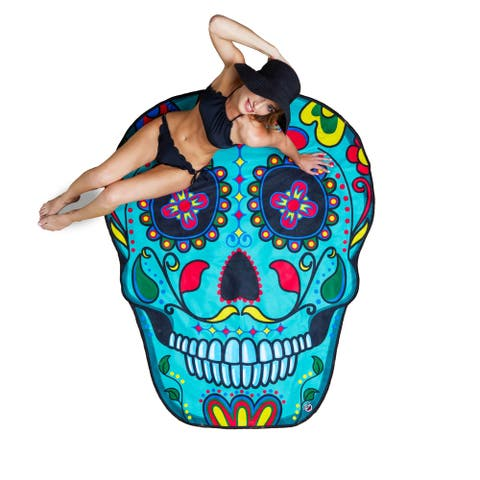BigMouth Inc. Giant Sugar Skull Beach Blanket