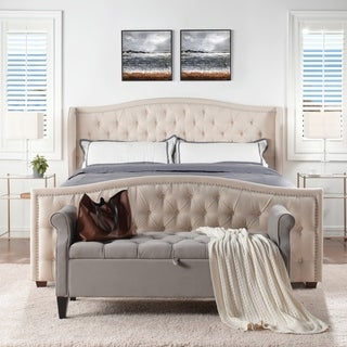 Link to Athens Upholstered Tufted Wingback Bed by Jennifer Taylor Home Similar Items in Bedroom Furniture