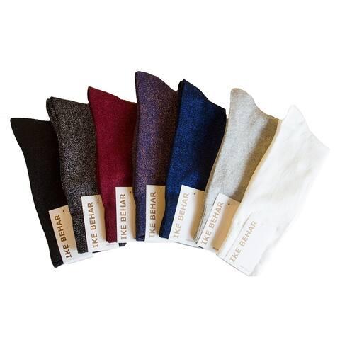 Ike Behar Men's Designer Glitter Dress Socks, Fits Shoe Sizes 7-12