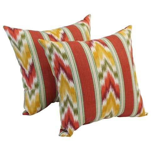 Blazing Needle 17-inch Square Polyester Outdoor Throw Pillows (Set of 2)