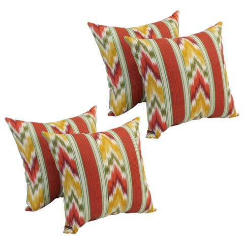 17-inch Square Polyester Outdoor Throw Pillows (Set of 4)