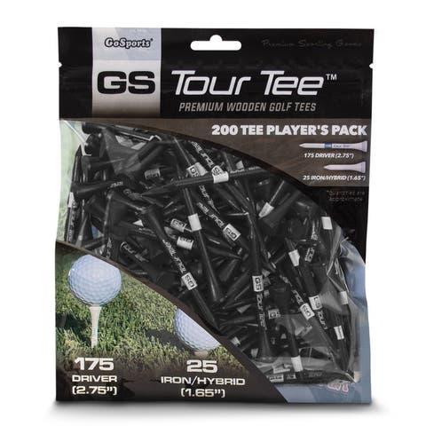 """GoSports 2.75"""" Tour Tee Premium Wooden Golf Tees"""
