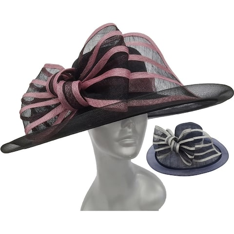 Designer sinamay straw hat for Derby, Preakness, Easter