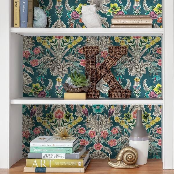 Shop Corona Summer Love Teal Peel Stick Wallpaper Overstock 30979273