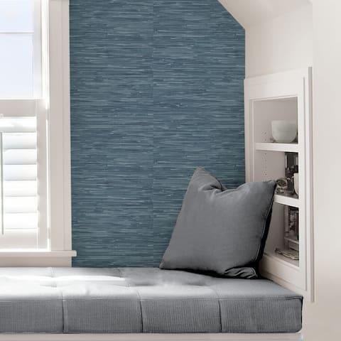 Colma, Cream Grassweave Peel & Stick Wallpaper