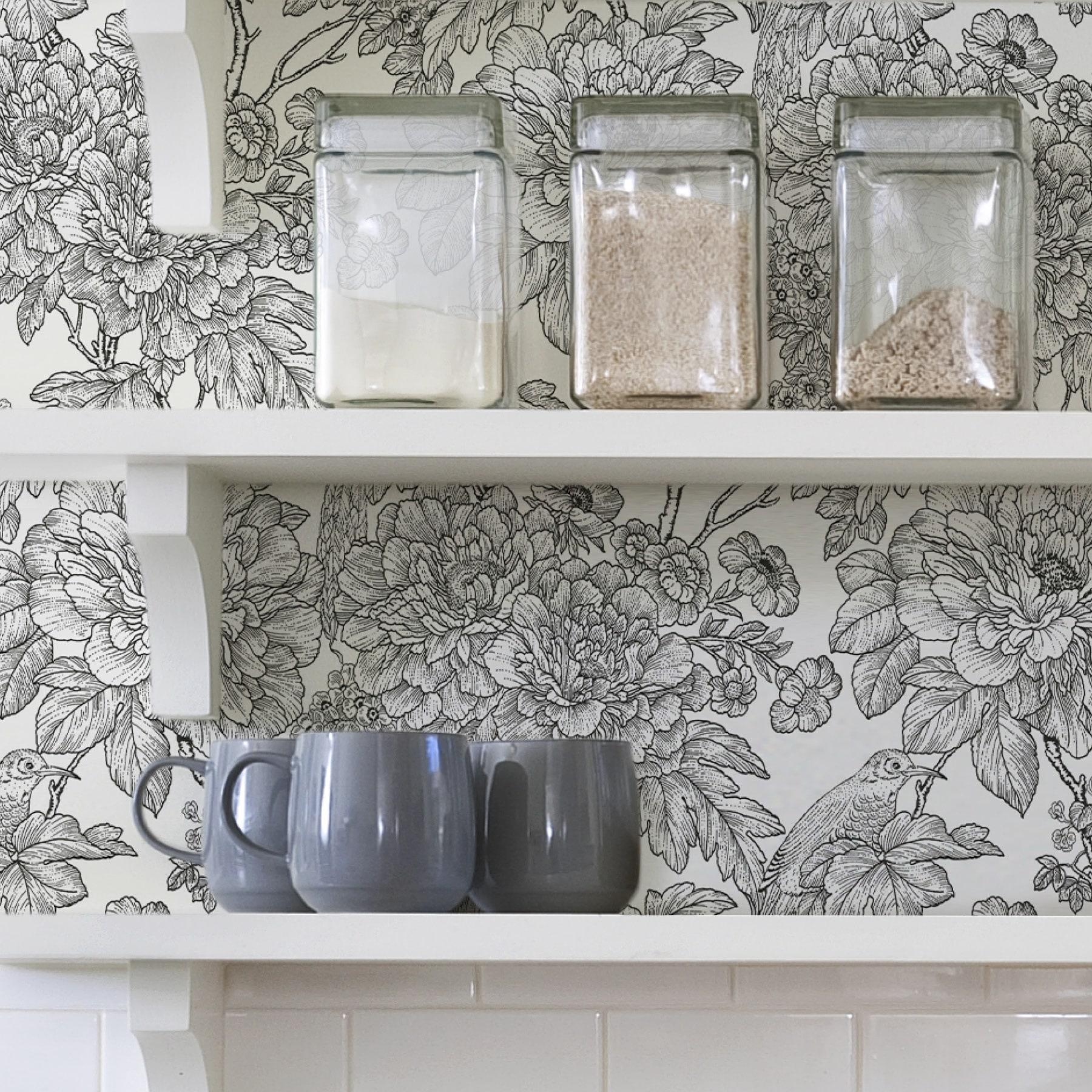 Shop Gardena Black White Sudbury Peel Stick Wallpaper Overstock 30979330