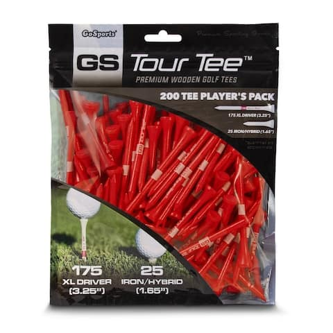 "GoSports 3.25"" XL Tour Tee Premium Wooden Golf Tees"