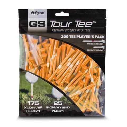 """GoSports 3.25"""" XL Tour Tee Premium Wooden Golf Tees"""