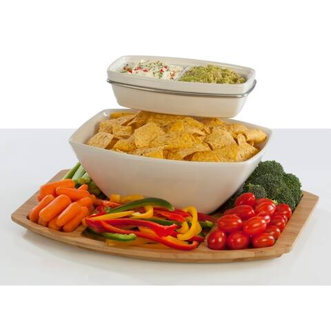 Creative Ware Table Styles Entertainment Collection Chip & Dip Server