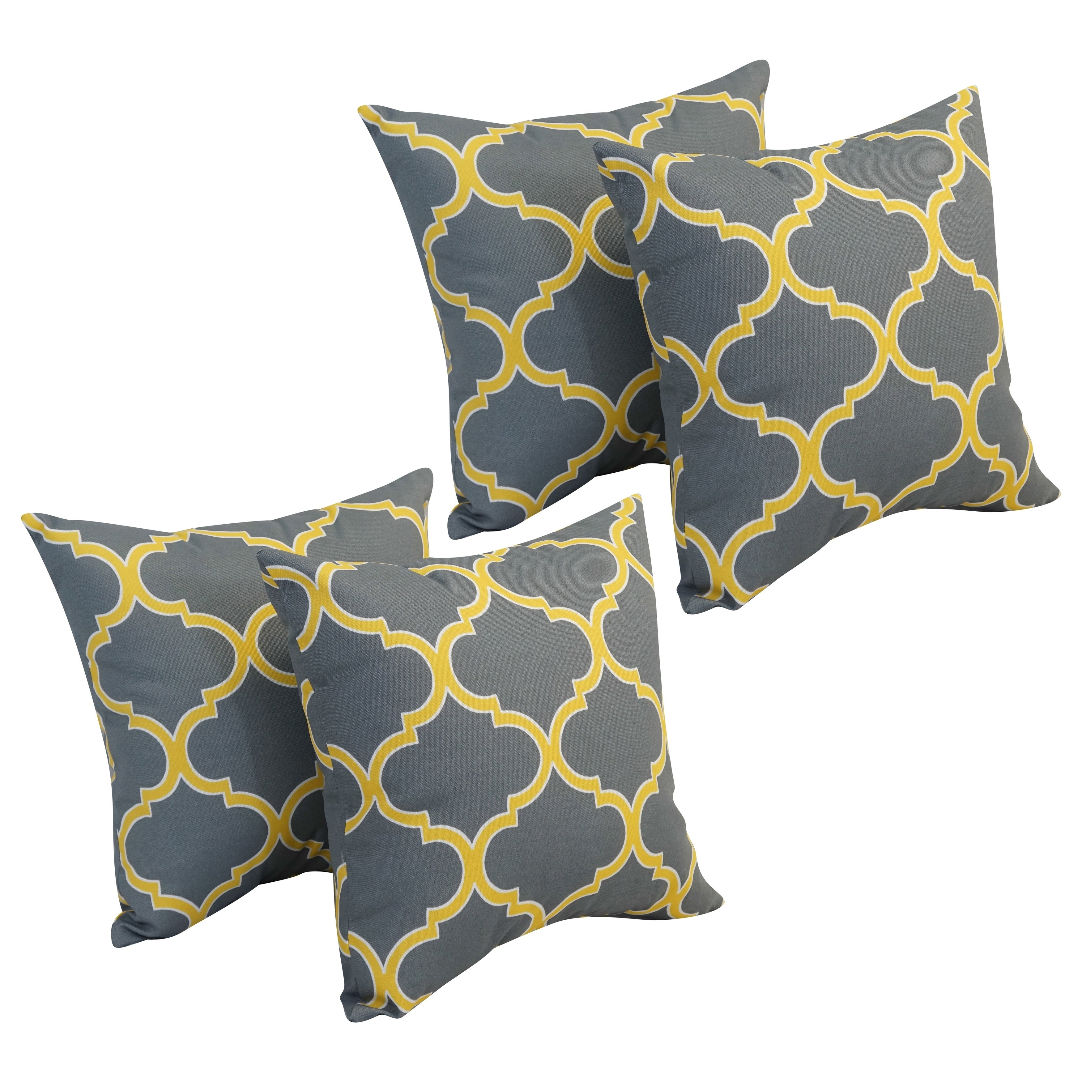 Blazing Needles 7-inch Square Polyester Outdoor Throw Pillows (Set of 7)