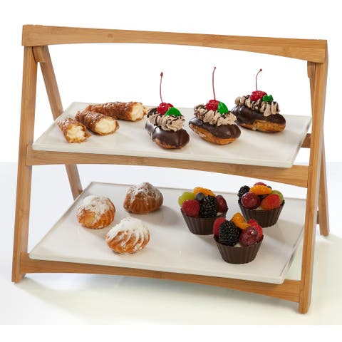 Creative Ware Table Styles Entertainment Collection Folding Two Tier Server