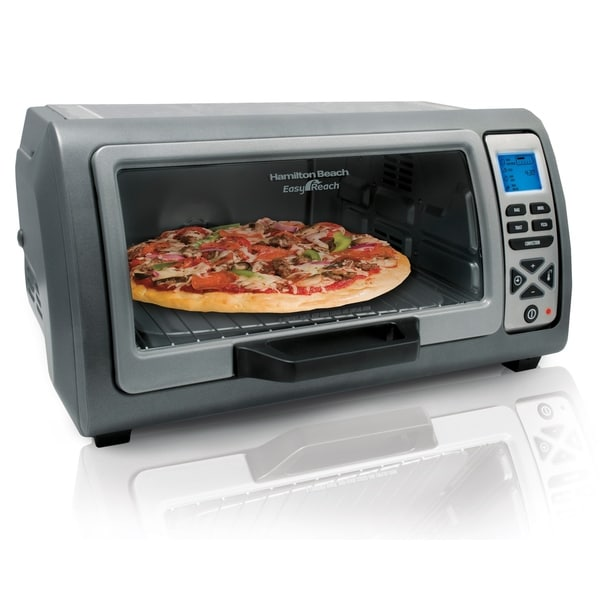 Hamilton Beach Easy Reach Digital Convection Oven with Roll-Top Door. Opens flyout.