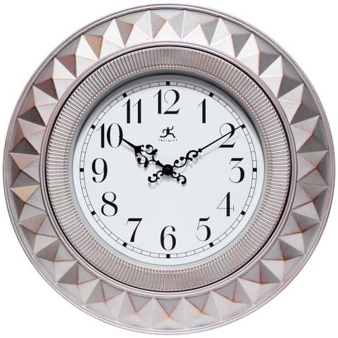 Elegance 18 inch Blush Pink Geometric Decorative Wall Clock