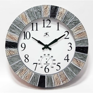 "13"" In/Outdoor Faux Slate Clock"