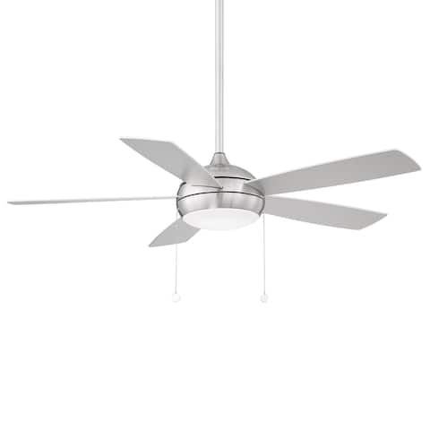 Disc 5-Blade Energy Star Fan 52in Brushed Nickel with 3000K LED Light