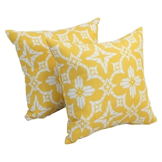 Link to Blazing Needles 17-inch Square Polyester Outdoor Throw Pillows (Set of 2) Similar Items in Outdoor Cushions & Pillows