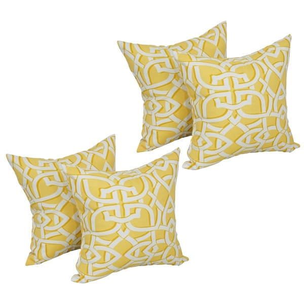Blazing Needles 17-inch Square Polyester Outdoor Throw Pillows (Set of 4). Opens flyout.