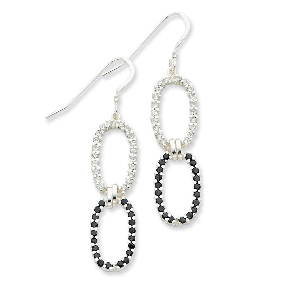 925 Sterling Silver Polished Fancy Dangle Earrings
