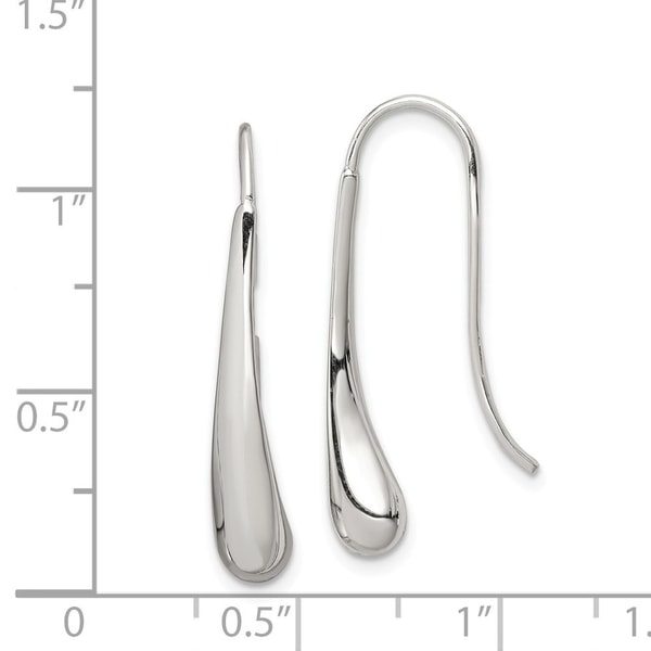 925 Sterling Silver Solid Polished Rhodium-plated Filigree Leaf Pin