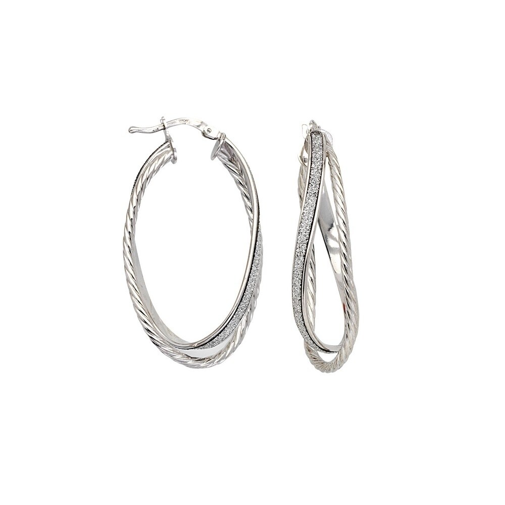 925 Sterling Silver Polished /& Textured Round Hoop Earrings