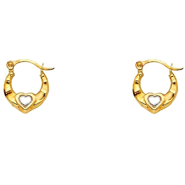 GULICX Girls Silver Tone Hoop Earrings Prevalent Creole Snap Closure Women