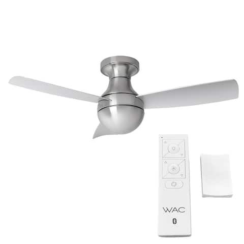 Orb 3-Blade Smart Compatible Flush Mount Fan 54in Brushed Aluminum