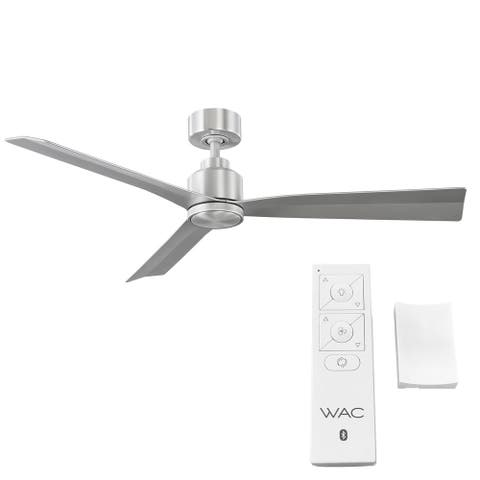 Clean 3-Blade Smart Compatible Fan 54in Brushed Aluminum with Remote