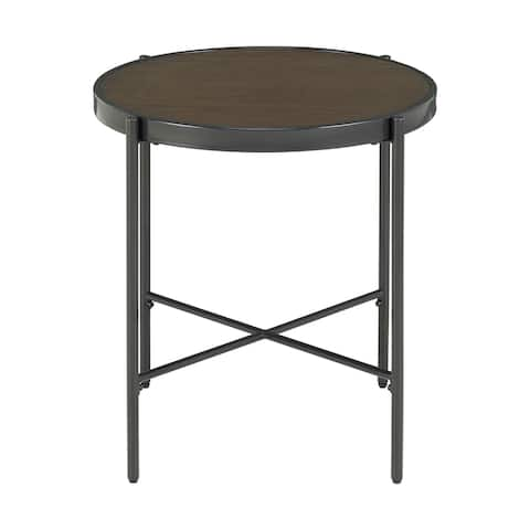 Picket House Furnishings Carlo Round End Table with Wooden Top