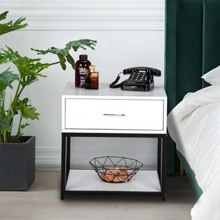 """19"""" Modern And Simple Style Nightstand with Drawer"""