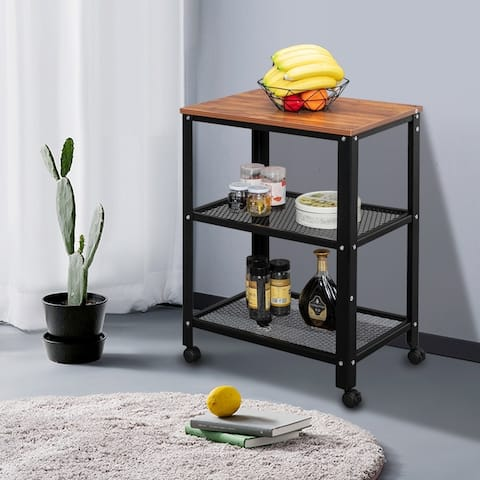 "21""/30"" Steel Wood Side Table 1/2-Story Bedside Table"
