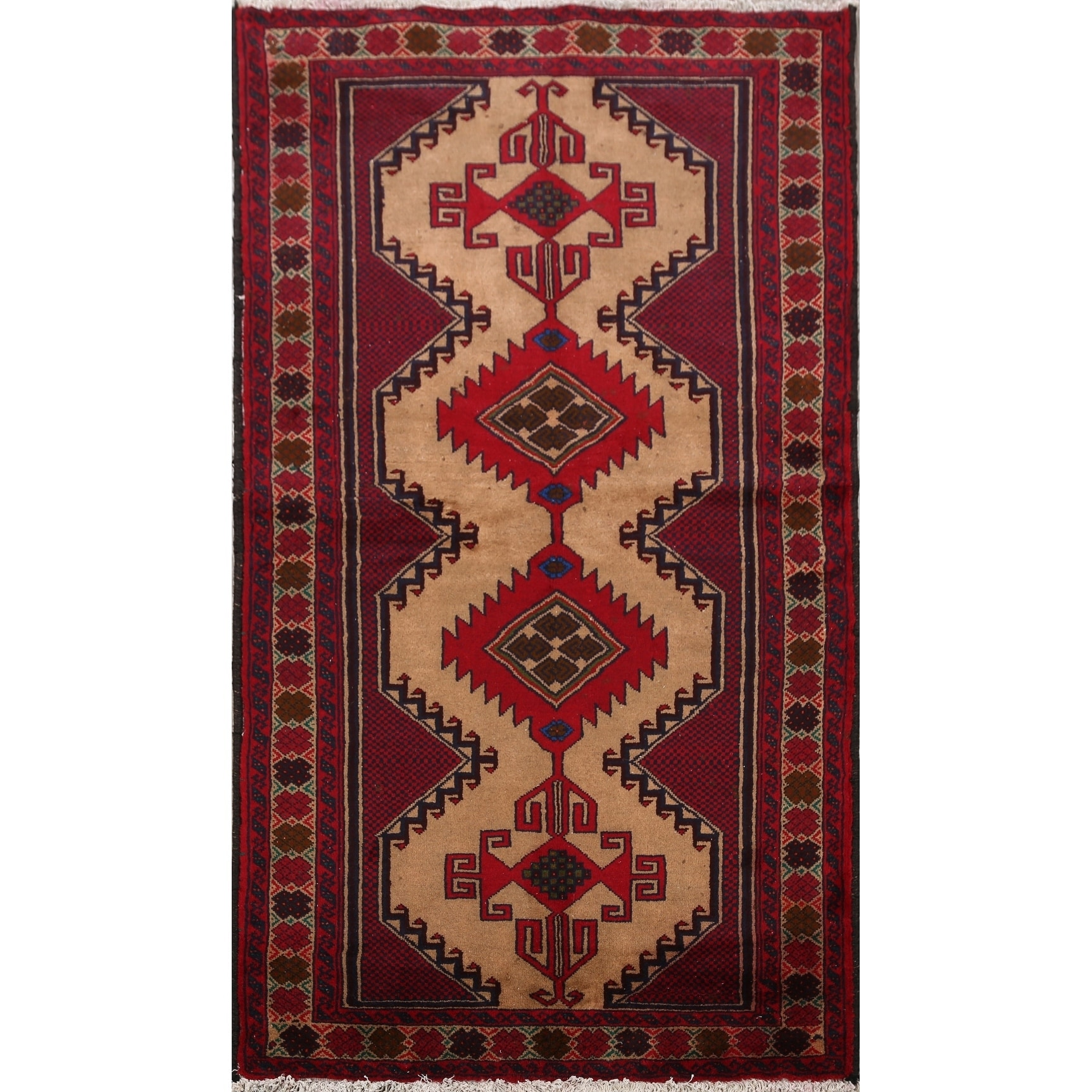 Geometric Balouch Oriental Area Rug Hand Knotted Brown Carpet 3 6 X 6 10 On Sale Overstock 30985554