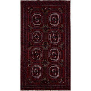 """Link to Eye-Catching Geometric Balouch Afghan Oriental Area Rug Handmade - 3'3"""" x 6'2"""" Similar Items in Rustic Rugs"""