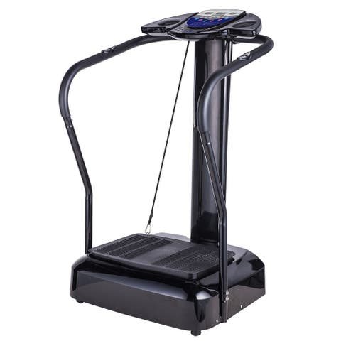 Whole Body Vibration Machine Exercise Fitness with MP3 Player - Black