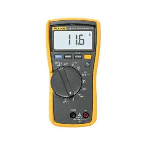 """Fluke 116 Digital HVAC Multimeter - 6.57"""" x 3.31"""" x 1.82"""""""