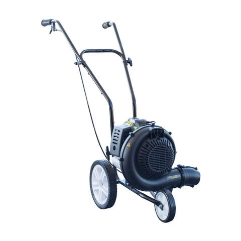 Buffalo Tools Sportsman Series 230 MPH 450 CFM Gas Powered 52 cc Walk-Behind Blower with Fold Down Handle - Black, Green