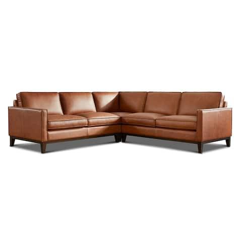 Pimlico Top Grain Leather Sectional Sofa