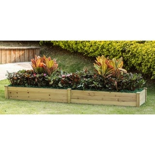 Wood 8ft x 2ft Raised Garden Bed