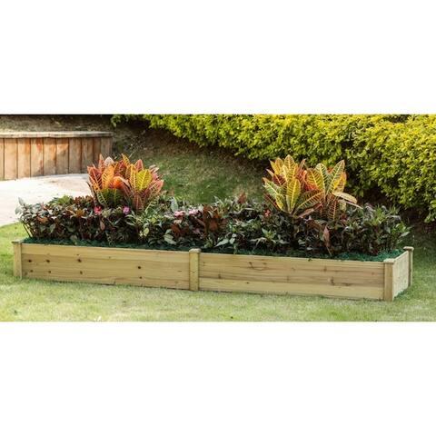 Wood 8ft x 2ft Raised Garden Bed