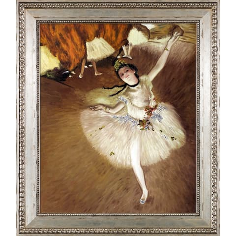 """La Pastiche Star Dancer (On Stage) (Luxury Line) with Versailles Silver King Frame Oil Painting Wall Art, 26""""x30"""""""