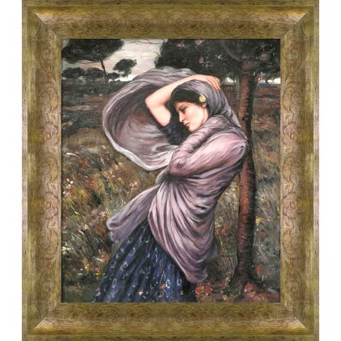 """La Pastiche Boreas with Sirocco Frame Oil Painting Wall Art, 27""""x31"""""""