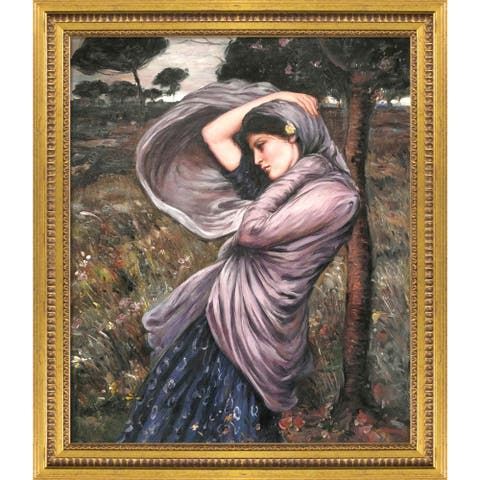 """La Pastiche Boreas with Versailles Gold Queen Frame Oil Painting Wall Art, 25""""x29"""""""
